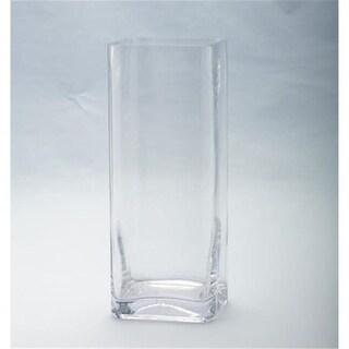 Diamond Star 64028 12 x 5 x 5 in. Square Glass Vase Clear