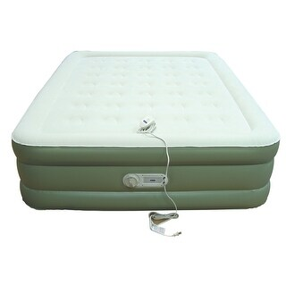 AeroBed 2000030273 Fast Inflation Control with Headboard Queen Air Mattress - Green