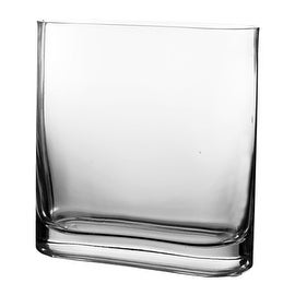 "CYS® Rectangular Vase (Rounded Edge). H-7.5"", Open-7.25"" x 2.75"" (2 pcs)"