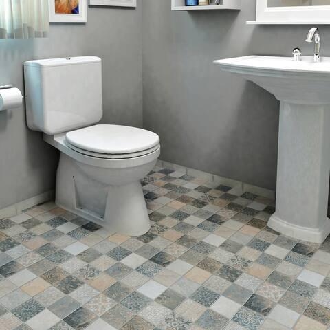 "SomerTile Deco Calzada Ardesia 17.5"" x 17.5"" Porcelain Floor and Wall Tile"