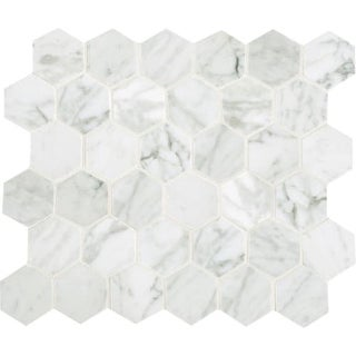 "Daltile M2HEXMSL Marble Collection - 2"" x 2"" Hexagon Mosaic Multi-Surface Tile -"