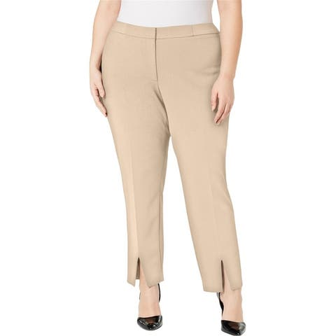 Calvin Klein Womens Split Front Casual Trouser Pants