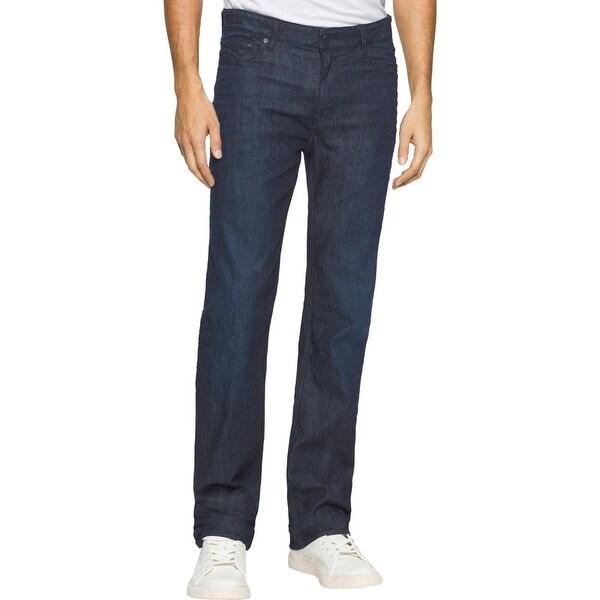 6db0471382b5 Shop Calvin Klein Jeans Mens Bootcut Jeans Straight Fit Indigo Wash ...