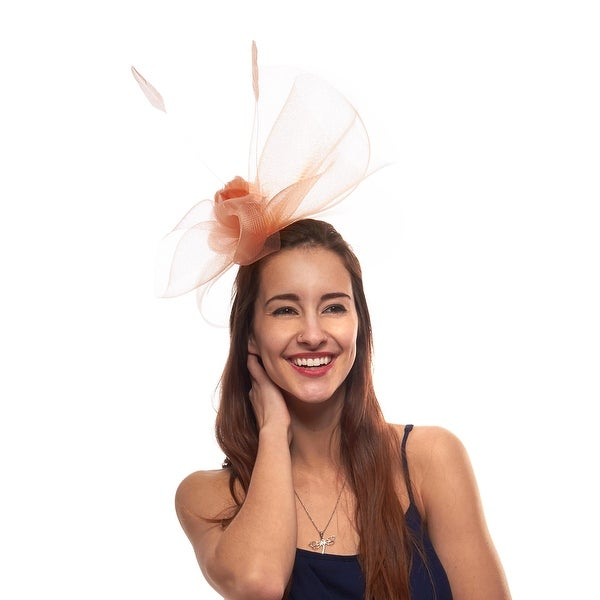 At the Wire Fascinator Cocktail Hat with Headband and Comb