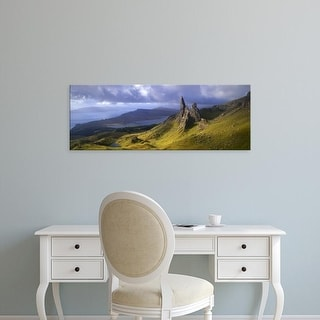 Easy Art Prints Panoramic Images's 'Rock formations on hill, Old Man of Storr, Isle of Skye, Scotland' Canvas Art