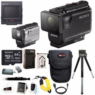 Sony HDR-AS50/B Full HD 1080p Action Cam with Live View Remote & Underwater Housing Bundle
