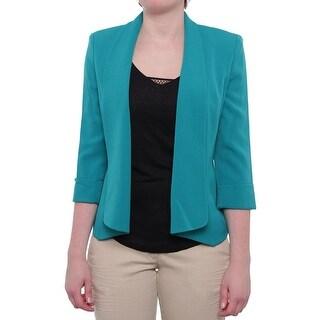 Kasper Women Odyssey Open Front Cardigan Jacket Basic Jacket Lagoon