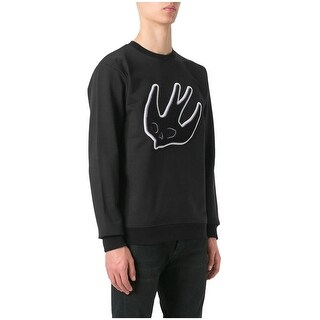 McQ Alexander McQueen Carpet Swallow Crewneck Sweatshirt Large L Black