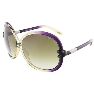 Tom Ford FT0185/S 95P SONJA Light Olive/Shaded Plum Oversized sunglasses