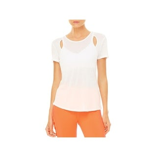 Alo Yoga Womens Astra Shirts & Tops Modal Cut-Out