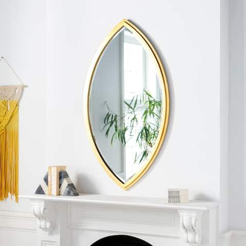 Zihlman Gilded Eye-shaped Golden Mirror