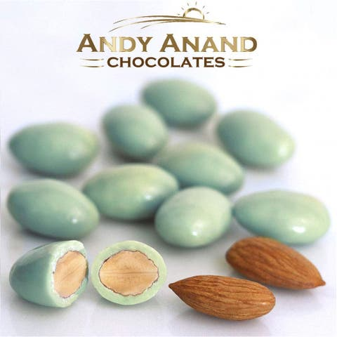 Andy Anand Belgian Chocolate Mint Almonds Gift Boxed 1 lbs