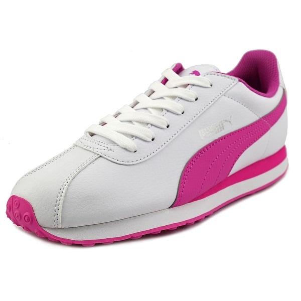 Puma Turin  Women  Round Toe Leather White Running Shoe