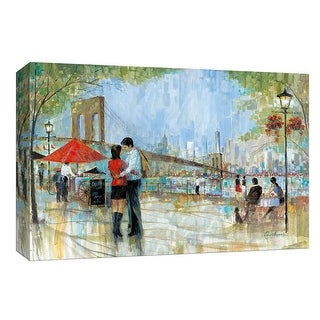 """PTM Images 9-147994  PTM Canvas Collection 8"""" x 10"""" - """"New York Romance"""" Giclee Couples Art Print on Canvas"""