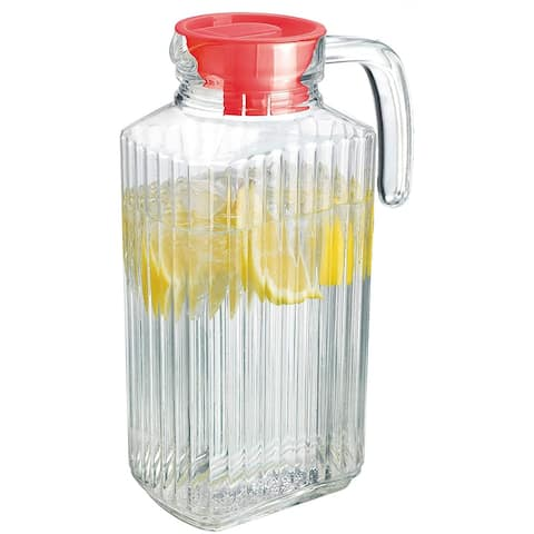 Palais Glassware Carafe - Bedside Night Carafe with Lid (1 Liter)