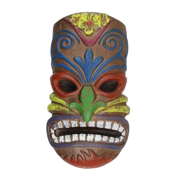 """13.5"""" Hawaiian Tiki Mask Hanging Summer Wall Decor - N/A"""