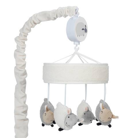 Lambs & Ivy Sleepy Sheep Musical Baby Crib Mobile - Cream/Gray