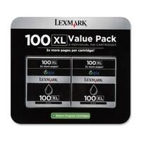Lexmark 14N0683 Lexmark No. 100XL High Yield Return Program Ink Cartridge - Black - Inkjet - 2 / Pack