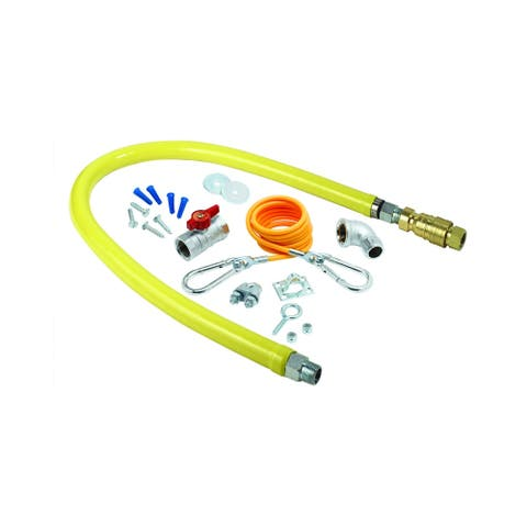 """T and S Brass HG-4D-36K 36"""" Safe-T-Link Gas Appliance Connector with - Yellow"""