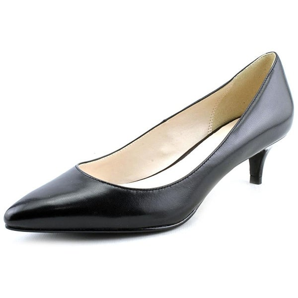 Cole Haan Juliana Pump .45 Women Pointed Toe Leather Black Heels