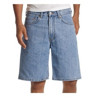 Levi's Mens 550 Casual Shorts Light Wash Flat Front