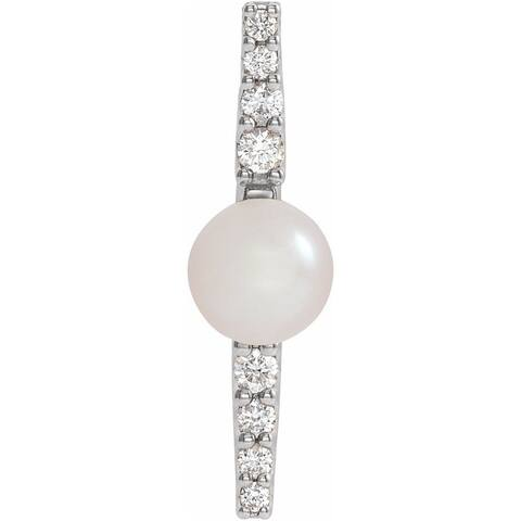 Platinum Freshwater Cultural Pearl & 1/6 CTW Diamond Pendant
