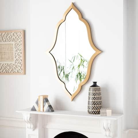 """Zuehl Quatrefoil Gold 47x30-inch Mirror - 47""""H x 30""""W"""