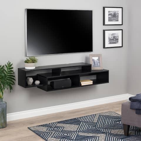 "Prepac Modern Wall Mounted Media Console and Storage Shelf - 58"" W x 13"" H x 12.5"" D"