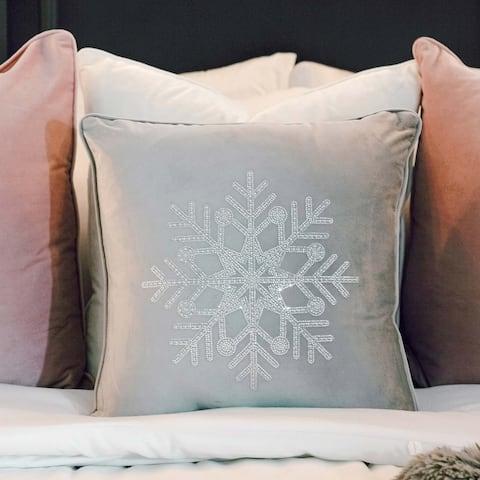 Sparkles Home Rhinestone Snowflake Pillow