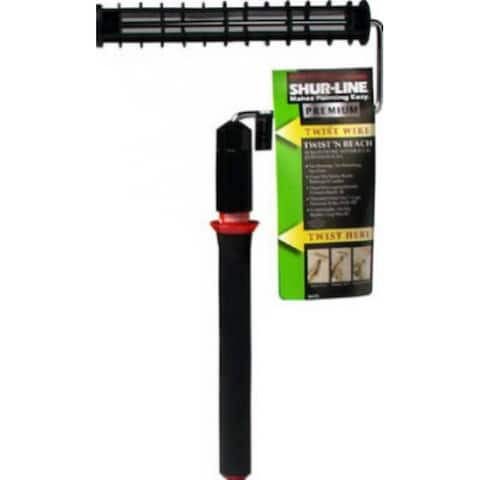 Shur-Line 06630C Twist N Reach Roller Frame & 3 Section Extension Pole, 9""
