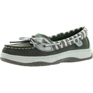 Sperry Girls Top-Sider Angelfish Boat Shoes - grey/silver bretton - 13 m us little kid