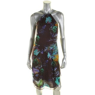 Mason by Michelle Mason Womens Slip Dress Silk Floral Print