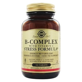 Solgar B-Complex with Vitamin C Stress Formula (100 Tablets)