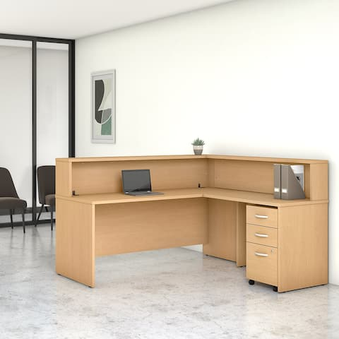 Studio C 72W Reception L Desk with Drawers by Bush Business Furniture