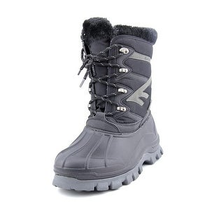 Hi-Tec Avalanche Men Round Toe Canvas Black Winter Boot