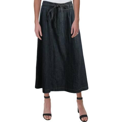 Polo Ralph Lauren Womens Denim Skirt Maxi A-Line - 12