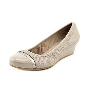 Easy Spirit Desire Open Toe Leather Wedge Heel