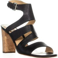 Marc Fisher Paxtin Buckle Strappy Sandals , Black - 9.5 us