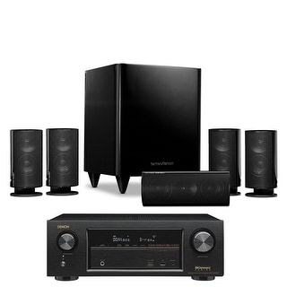 Harman Kardon HKTS 20BQ 5.1-channel Home Theatre Speaker System with Denon AVR-X 1300W