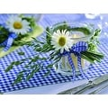 "LED Lighted Flickering Daisy Tea Light Candle Canvas Wall Art 11.75"" x 15.75"" - Thumbnail 0"