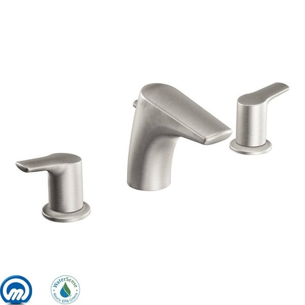 Moen T6820 Double Handle Widespread Bathroom Faucet from the Method Collection