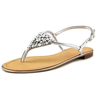 Marc Fisher Rady 2 Women Open Toe Synthetic Silver Sandals