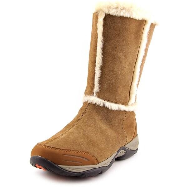 Easy Spirit Elk Women W Round Toe Synthetic Tan Winter Boot