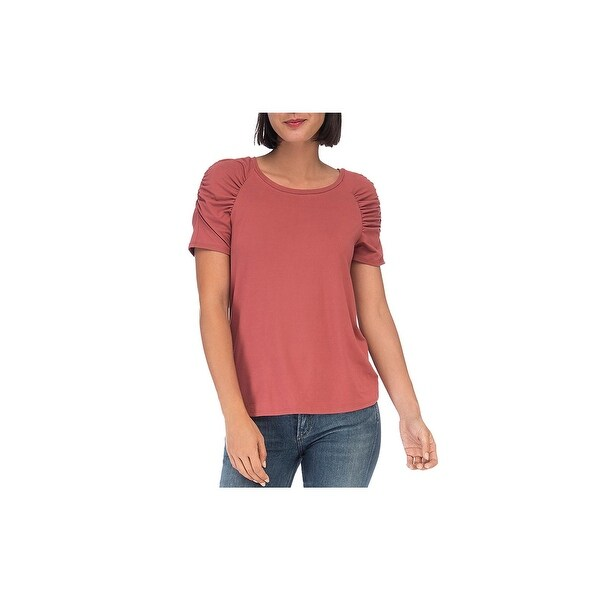 124a7ffd6 Shop Bobeau Womens Thora T-Shirt Knit Puff Sleeves - Free Shipping On Orders  Over $45 - Overstock - 28021319