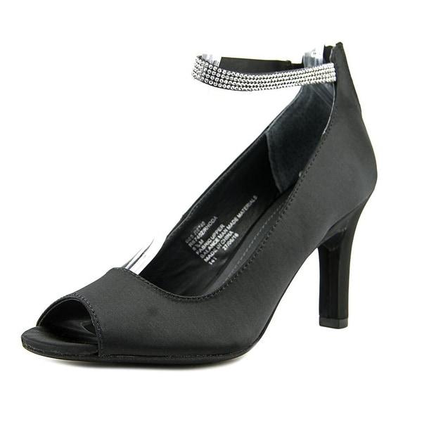 Rialto Rhoda Women Peep-Toe Canvas Black Heels