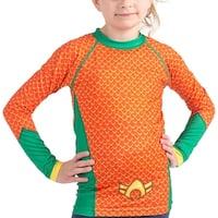 Fusion Fight Gear Kid's Aquaman Costume Long Sleeve Rashguard