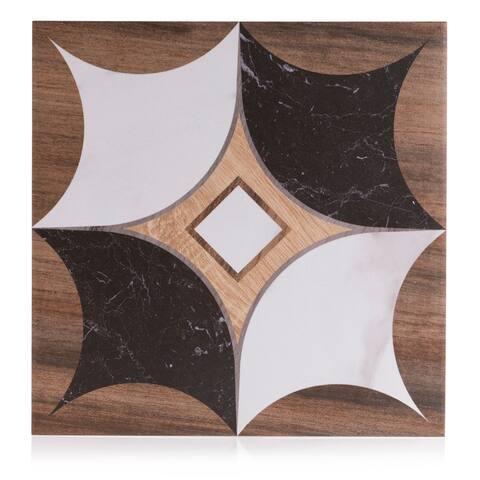 8x8 Art Wood Marble design 5 porcelain tile (10.76 Sq. Ft./ 25 pc box)