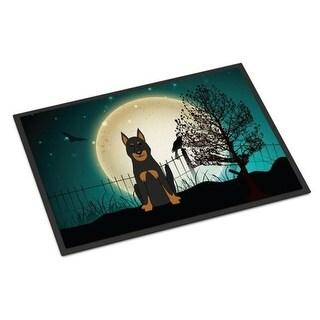 Carolines Treasures BB2270MAT Halloween Scary Beauce Shepherd Dog Indoor or Outdoor Mat 18 x 0.25 x 27 in.