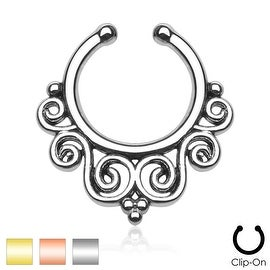 Tribal Swirls Non-Piercing Septum Hanger (Sold Ind.)