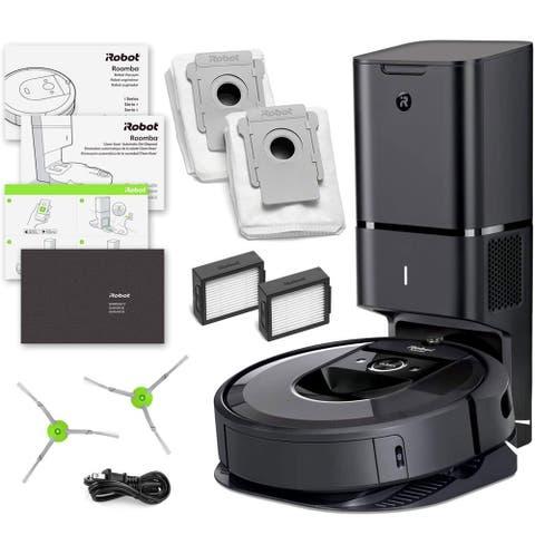 iRobot Roomba i7+ Robotic Vacuum Cleaner w/ Automatic Dirt Disposal + Warranty + Extra Sidebrush Extra Filter Bundle